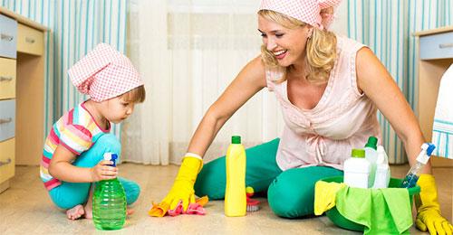 Маленький ребёнок и соблюдение санитарных норм в доме