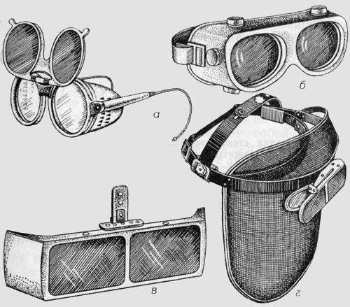 Описание защитной оптики для глаз