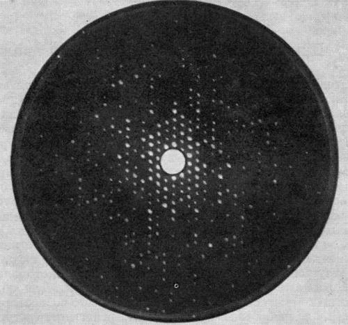 Рентгенограмма монокристалла гемоглобина