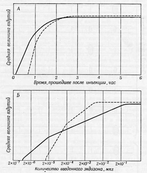 Данные о контроле активности генов экдизоном